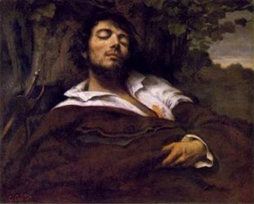 O homem ferido, por Gustave Courbet #PraCegoVer