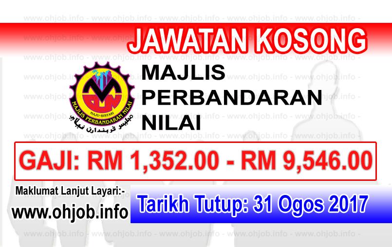 Jawatan Kerja Kosong Majlis Perbandaran Nilai logo www.ohjob.info ogos 2017
