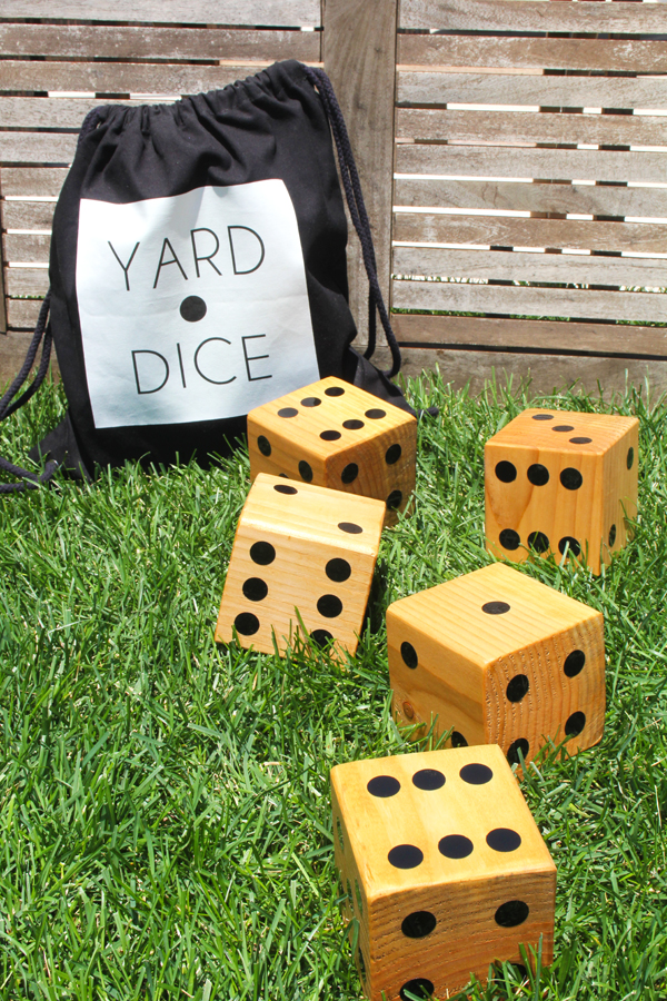 DIY Yard Dice and Carry Bag