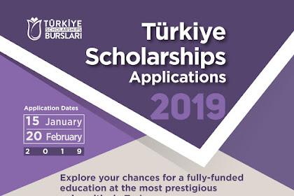 Beasiswa Pemerintah Turki Turkiye Scholarships 2019