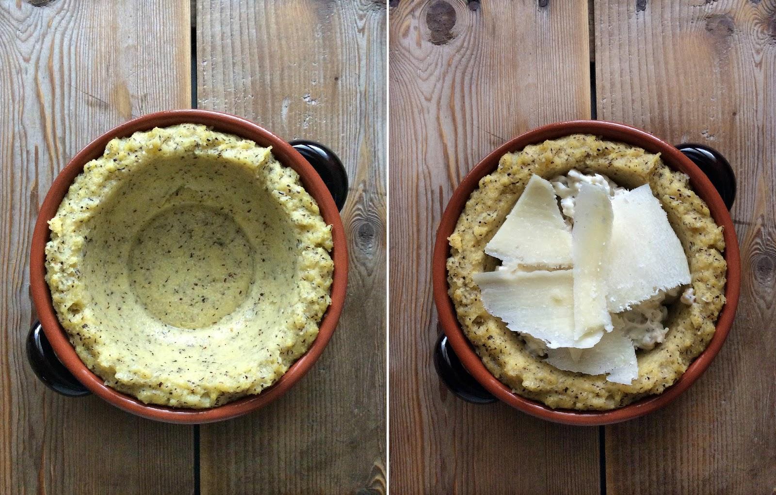 ricette con polenta taragna gorgonzola pere e noci