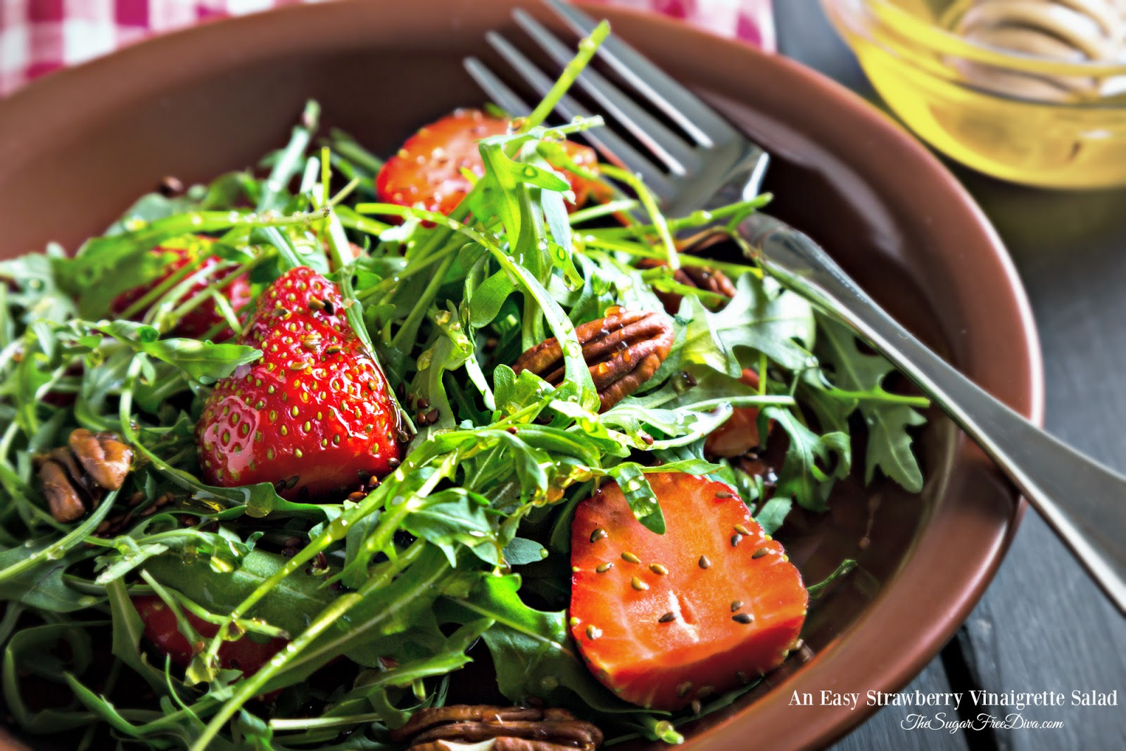 An Easy Strawberry Vinaigrette Salad