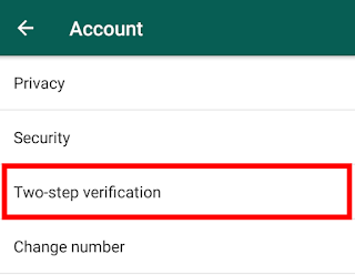 "in these options, click on ""Two-Step Verification"""