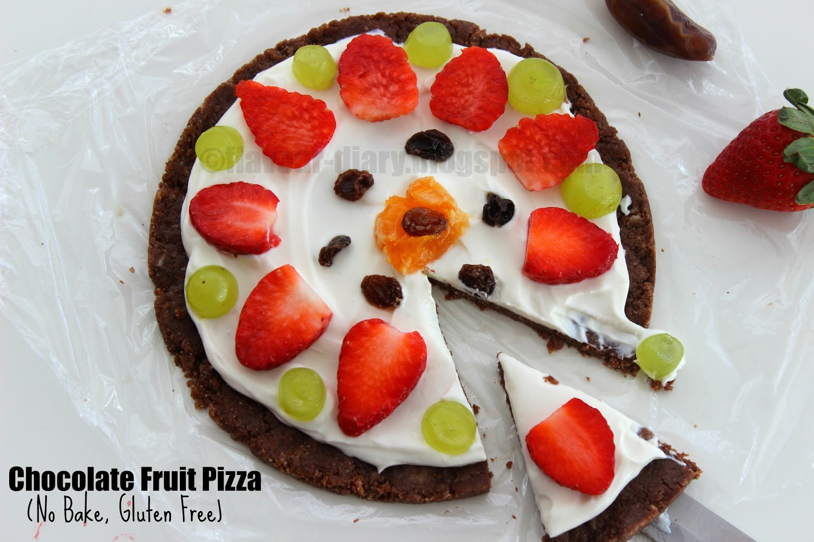 No Bake Chocolate Fruit Pizza Recipe