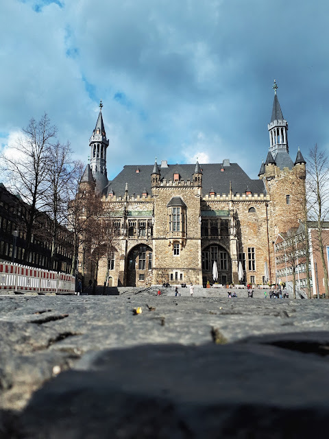 Aachen city hall aka Charlemagne's palace from the square