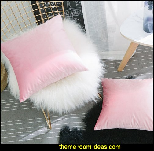 Velvet Cushion Covers Set Throw Pillow Cases Covers Square Decorative Pillowcases