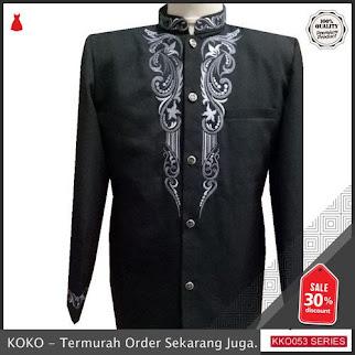 KKO53 IYT502 Jas Koko Terbaru Bordir Wool Novus Murah Modern BMGShop