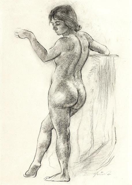 Johann Robert Schurch: Nudo femminile in piedi
