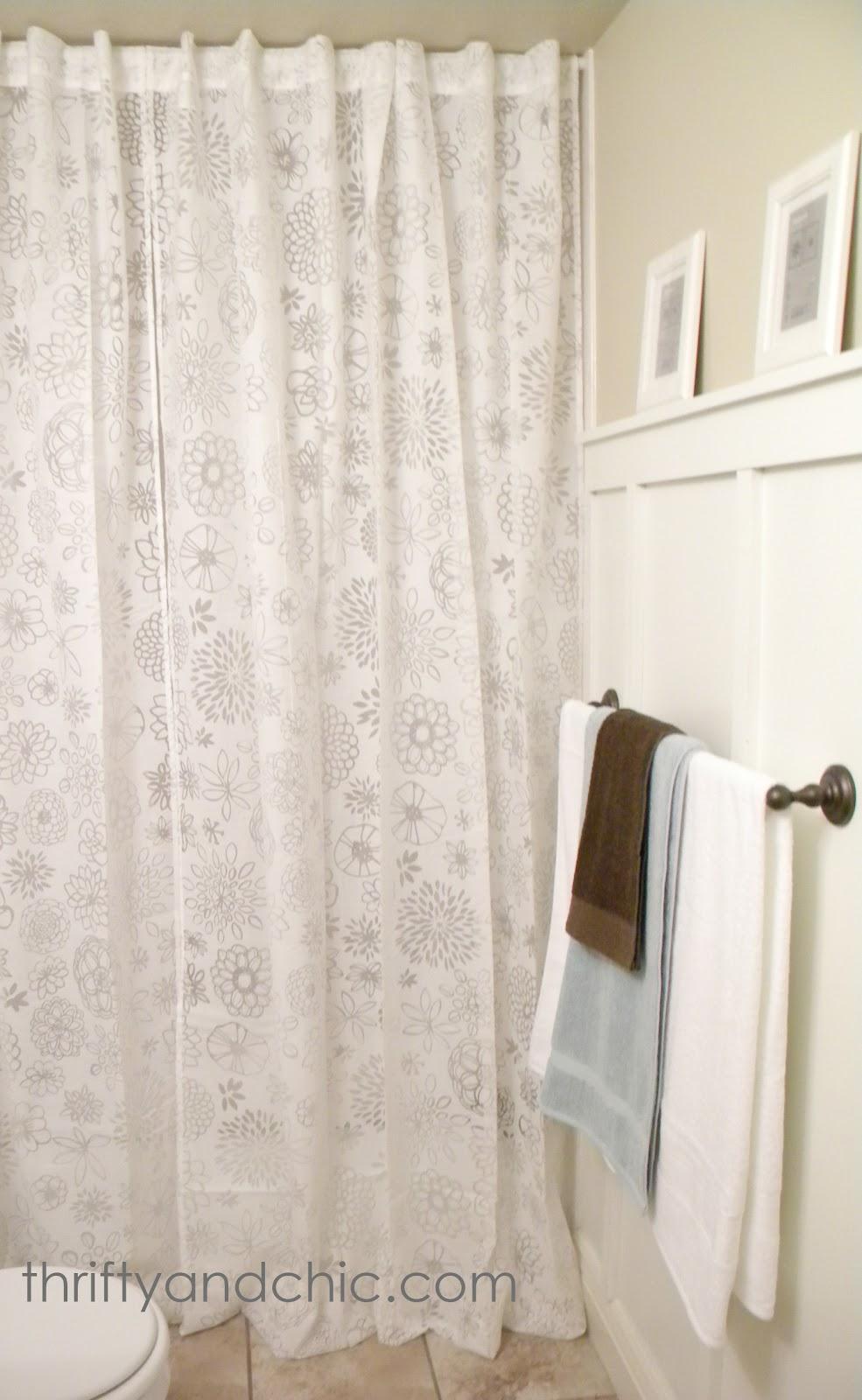 Diy shower curtain window treatment curtain menzilperde net for Bathroom curtains window treatments