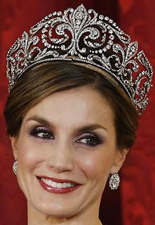 Queen Victoria Eugenie Ena Spain Fleur de Lys Tiara Ansorena Letizia