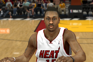 Mario Chalmers of Miami Heat Cyberface Mod