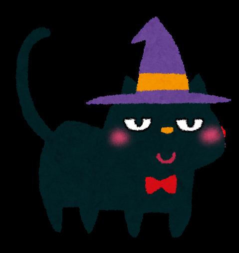 「ハロウィン イラスト 猫」の画像検索結果