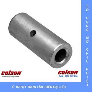 Bánh xe đẩy chịu nhiệt 230 độ C liên tục phi 75 Colson www.banhxedayhang.net