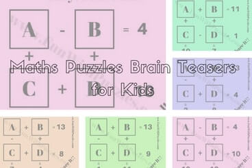 Maths Puzzles Brain Teasers for Kids with Answers