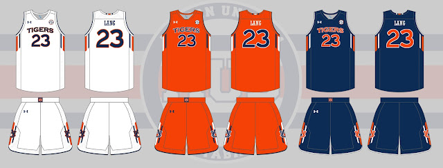 Auburn basketball Tigers uniform possibilities
