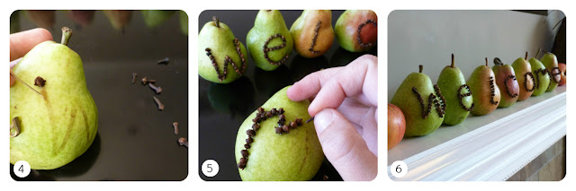 Pear and clove welcome sign tutorial