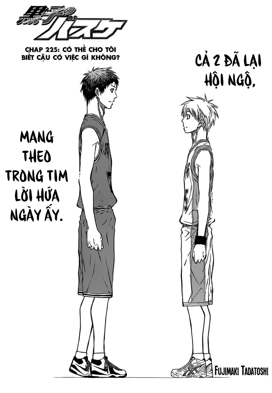 Kuroko No Basket chap 225 trang 1