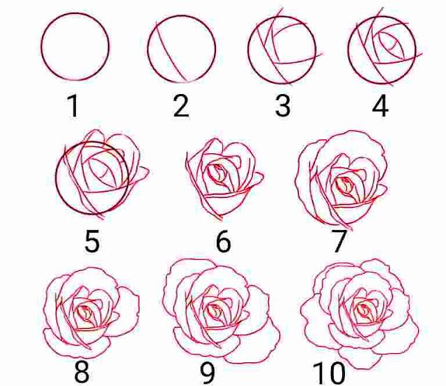 Cara Menggambar Bunga Yang Mudah - Cilacap Klik