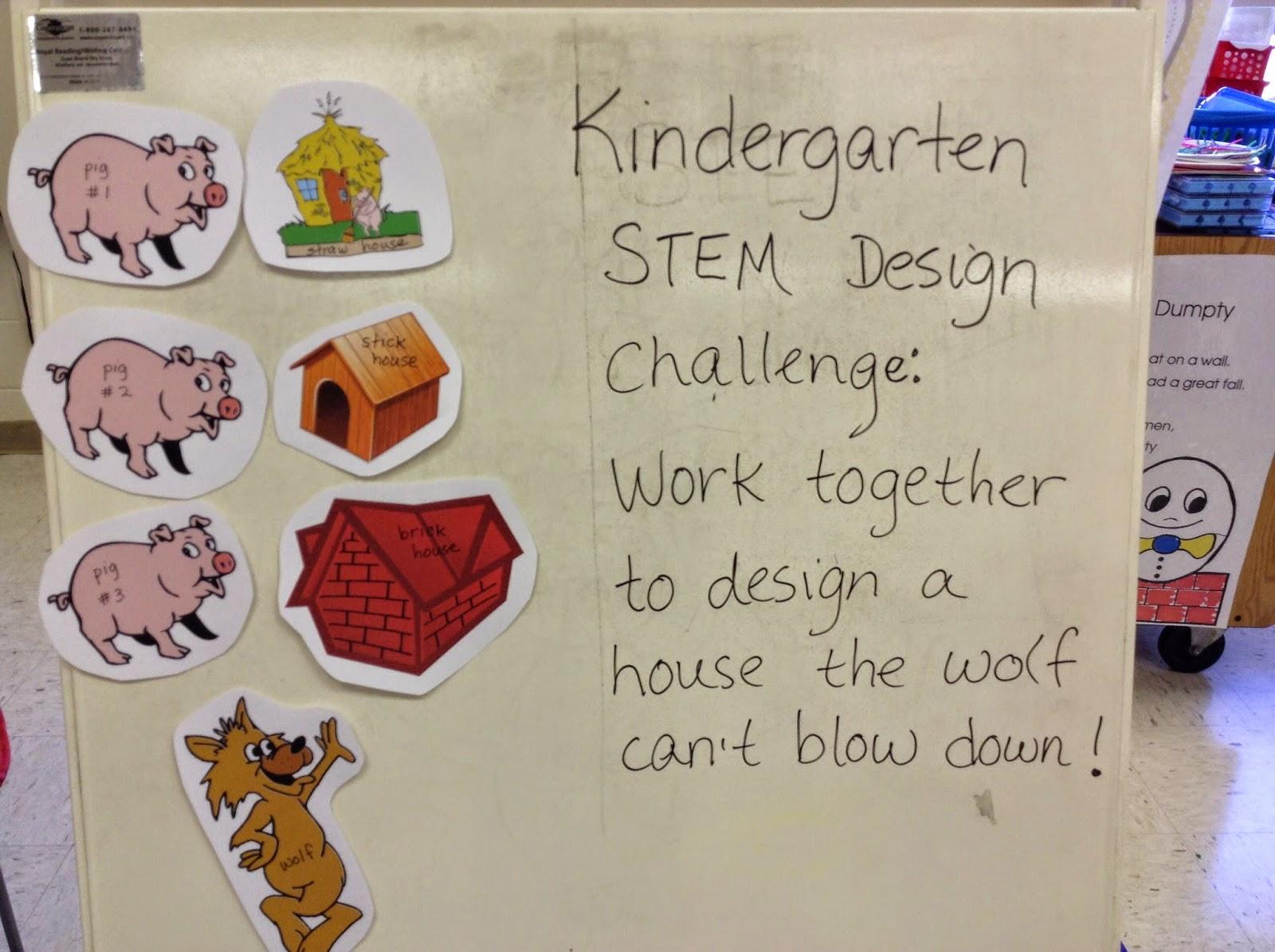Welcome To Kindergarten 3 Little Pigs Stem Challenge