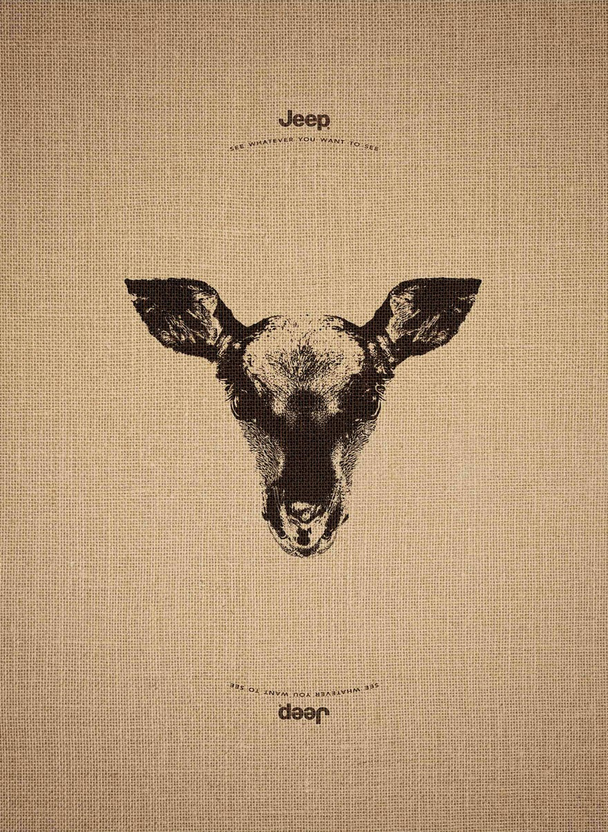 Jeep's Clever Ad Campaign Works Just As Well Upside Down