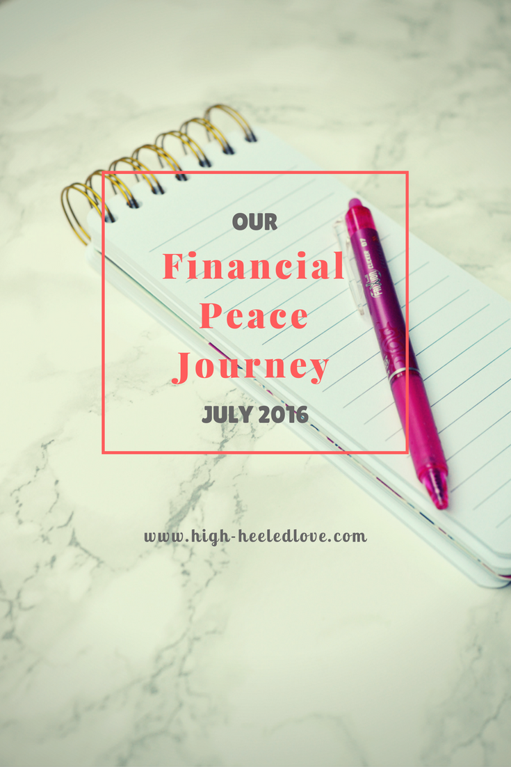 Stop in to get an update  for July of our Financial Peace Journey. We took Dave Ramsey's Financial Peace course in Fall 2015 and have a goal to pay off half our consumer debt by the end of the year.