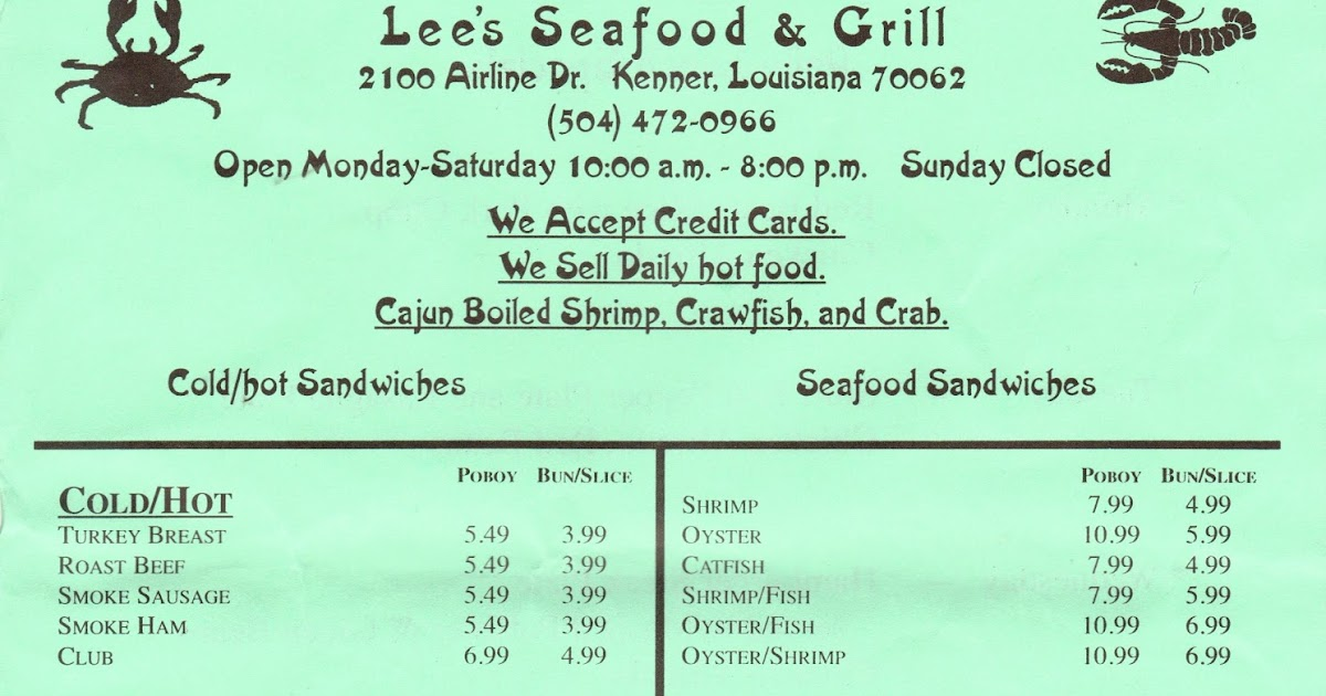 Lunch Menu Lee County