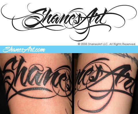 lettering design sa tattoo