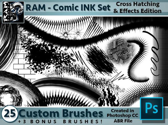 Ram Studios Comics: Comic Book Inking Brushes for ...