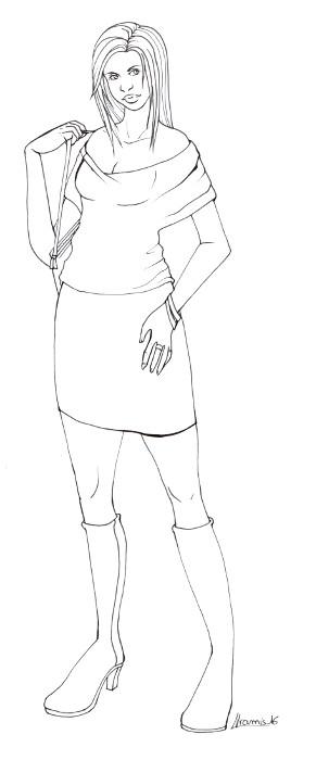 Les gribouilles d'Aramis - Page 2 Femme_mode01