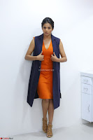Priyamani in Beautiful Short Deep neck Orange Dress ~  Exclusive 01.JPG