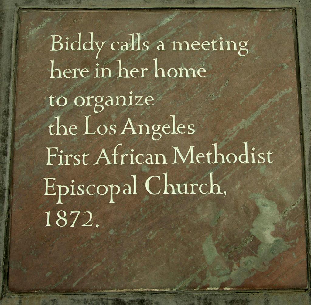 Los Angeles Morgue Files Former Slave Pioneer Biddy Mason 1891 Evergreen Cemetery