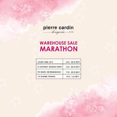 Pierre Cardin Lingerie Malaysia Warehouse Sale Marathon