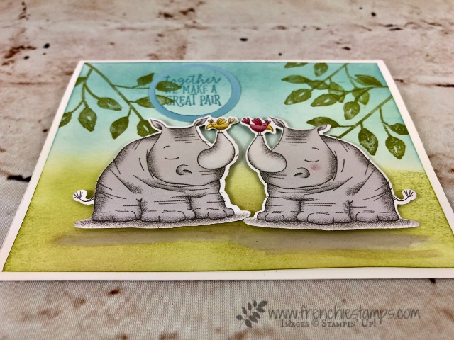 Animal Expedition, animal outing, Petal Palette, Mirror Image, Stampin'Up!, Frenchie' Stamps,