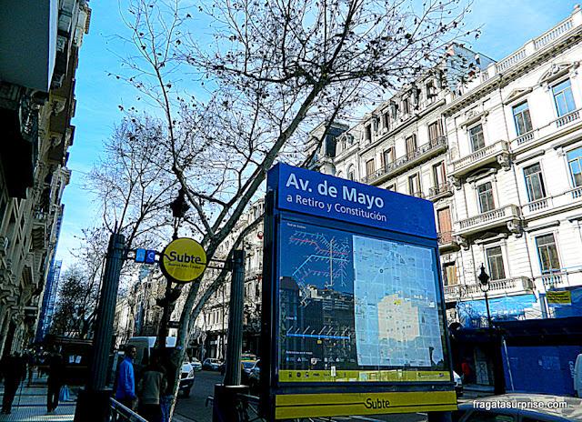 Metrô de Buenos Aires, Estação Avenida de Mayo
