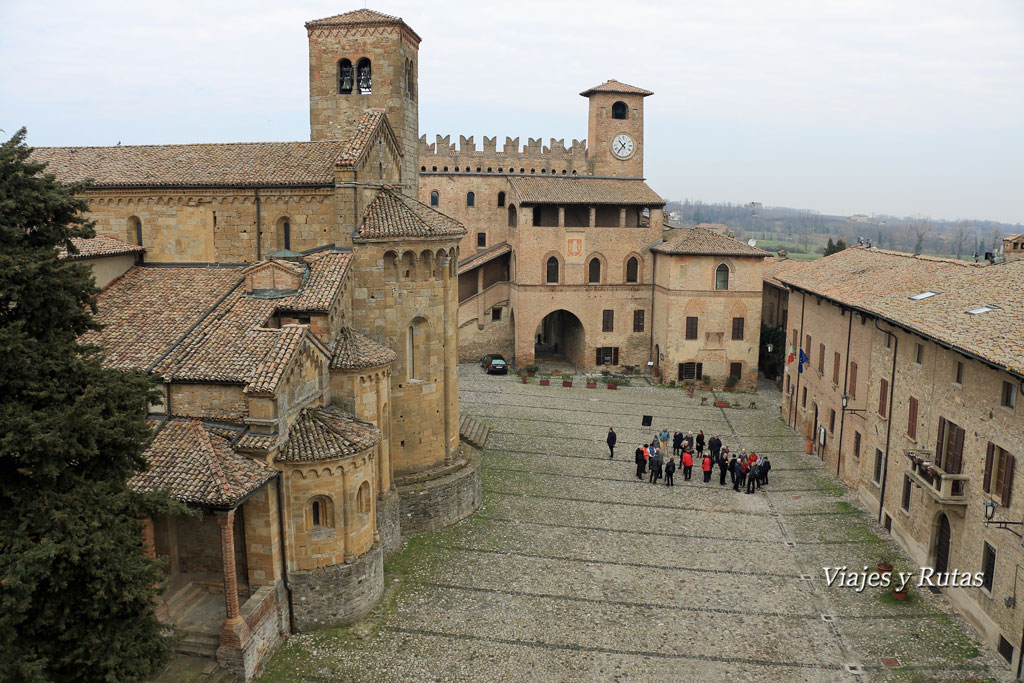 Plaza del Municipio, Castell'Arquato, Piacenza, Italia