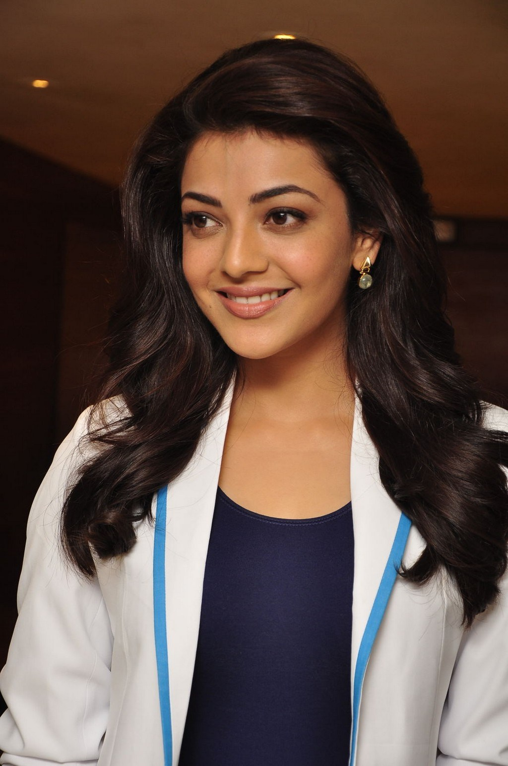 Kajal Aggarwal Photos In White Dress
