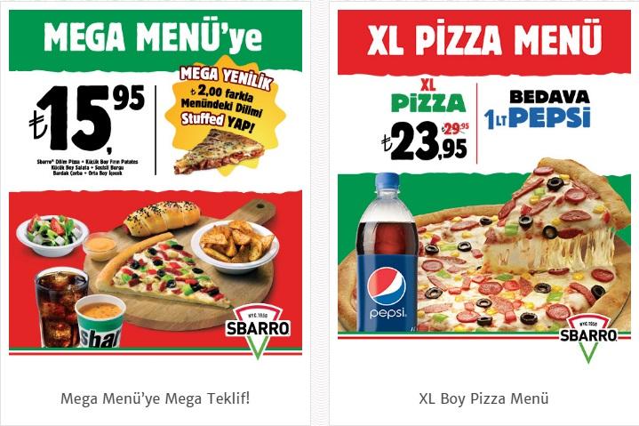sbarro pizza menü fiyatlar