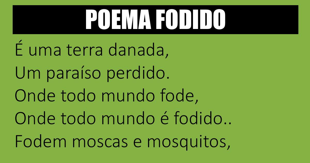 O poema da f#da