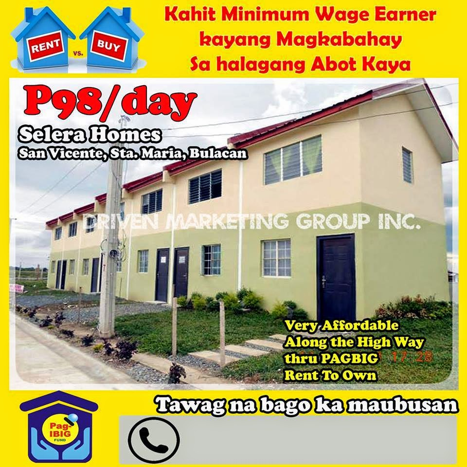 Apartments For Rent In Santa Maria Ca: PAG-IBIG RENT TO OWN House & Lot, Condo.: 2,000/MONTH
