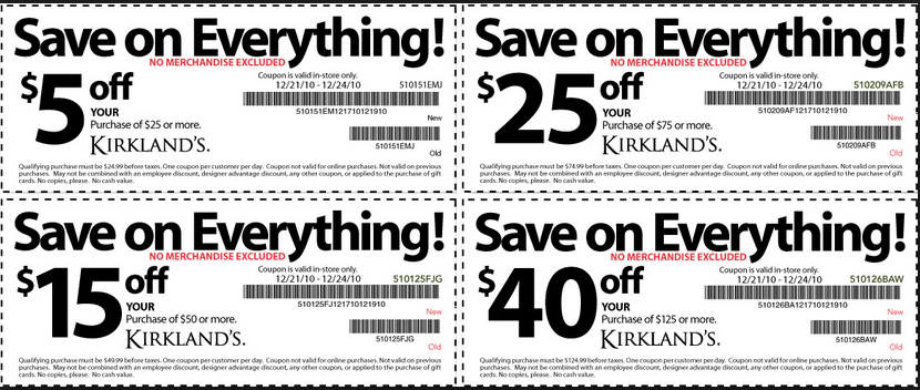 kirklands Coupons 2016. Kirklands Printable Coupons November 2017