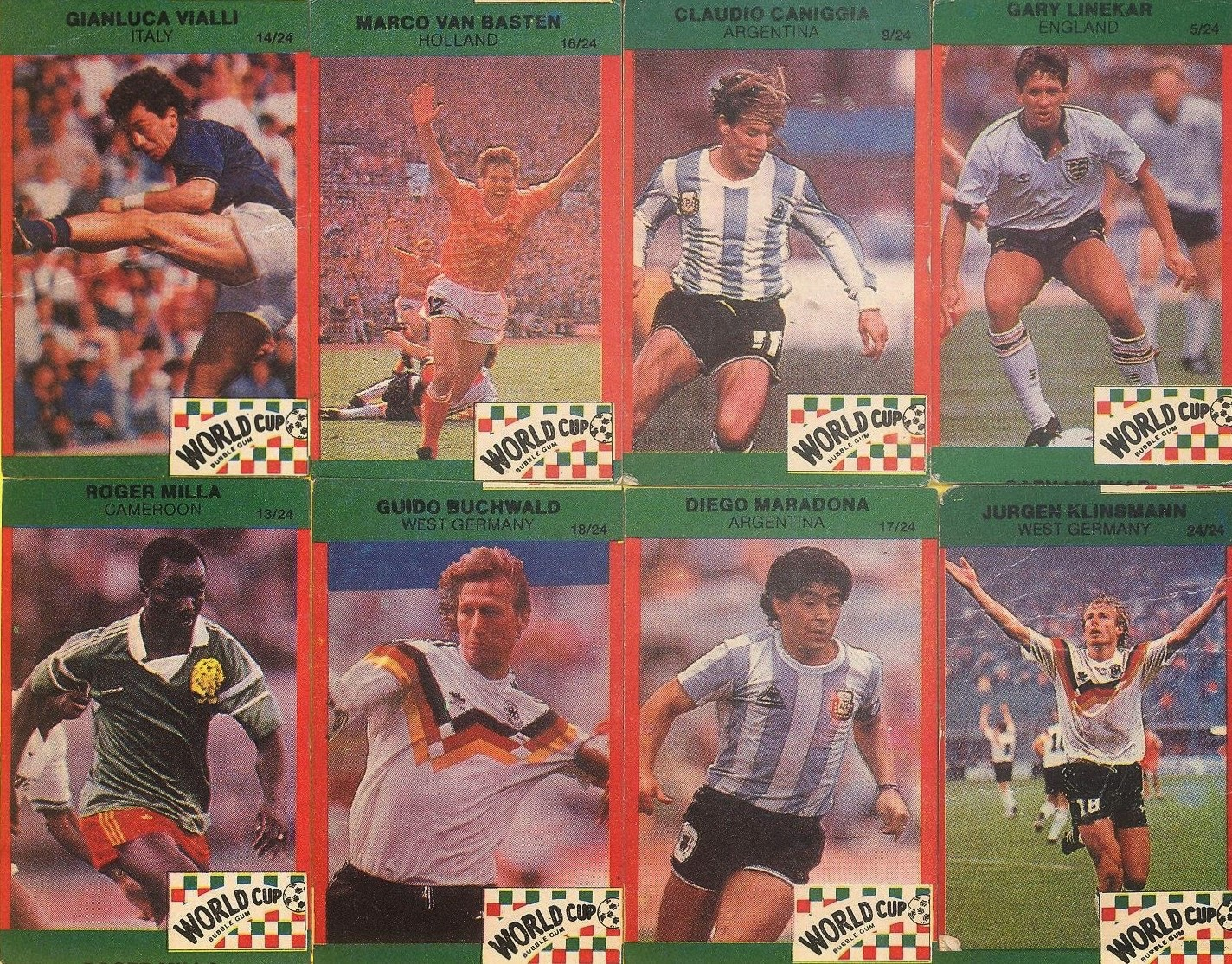 BEANSTALK-FULL SET VINTAGE FOOTBALL STARS MANCHESTER UNITED SPURS 15 CARDS