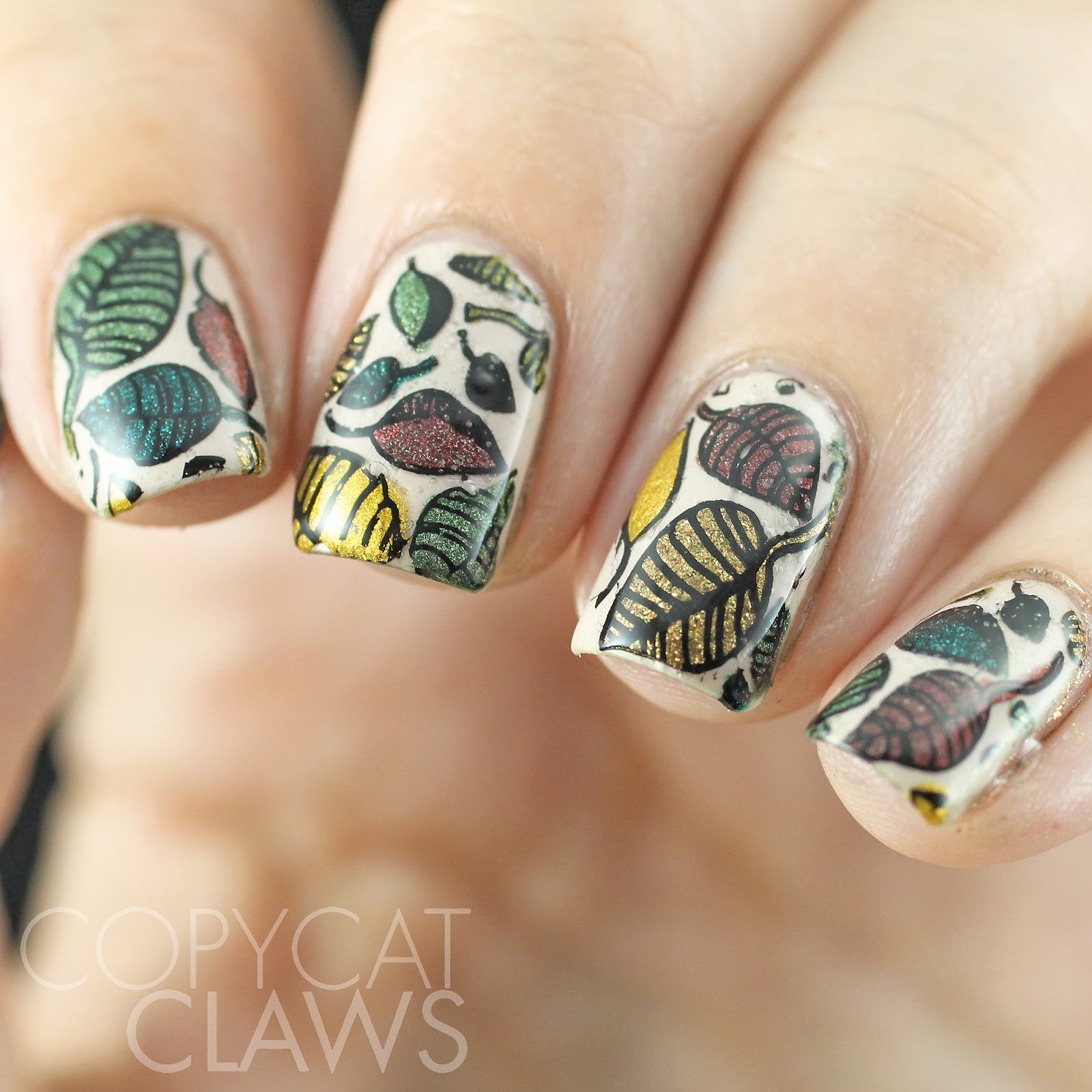 Copycat Claws: Autumn Leaves Stamping Decals