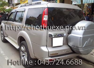 Cho thuê xe 07 chỗ Ford Everest giá rẻ tại Hà Nội