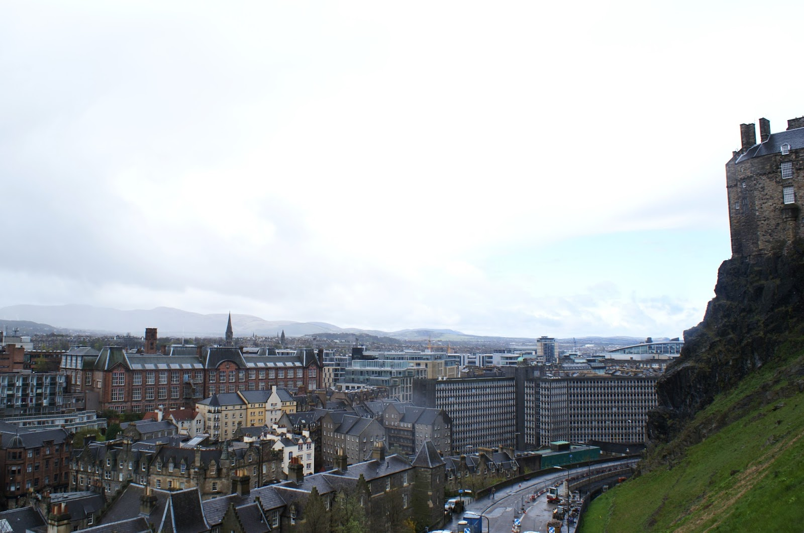 edinburgh scotland uk britain travel castle view old town