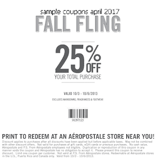 free Aeropostale coupons april 2017