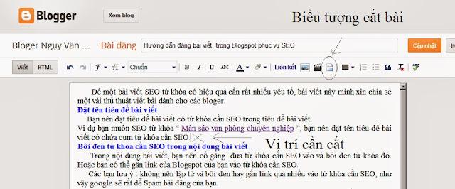 thu gon bai dang tren trang chu blogspot