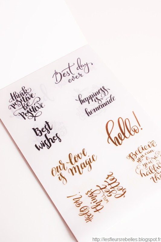 Bloc papier velin citations calligraphie détails