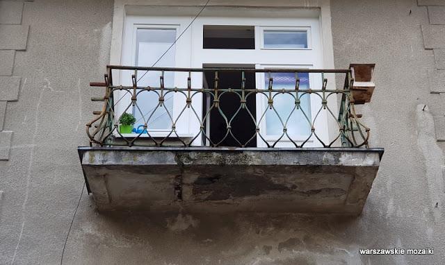 Warszawa Warsaw willa pałacyk architektura przedwojenna Mokotów architektura Mokotowa balkon