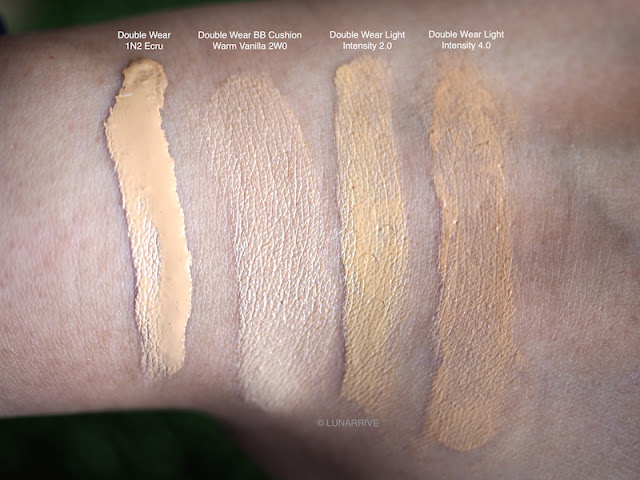 Estee Lauder Double Wear Series Foundations Swatches Lunarrive Sephora Singapore