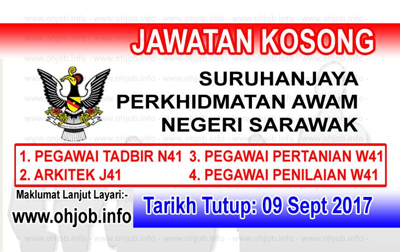Jawatan Kerja Kosong Suruhanjaya Perkhidmatan Awam Negeri Sarawak logo www.ohjob.info september 2017